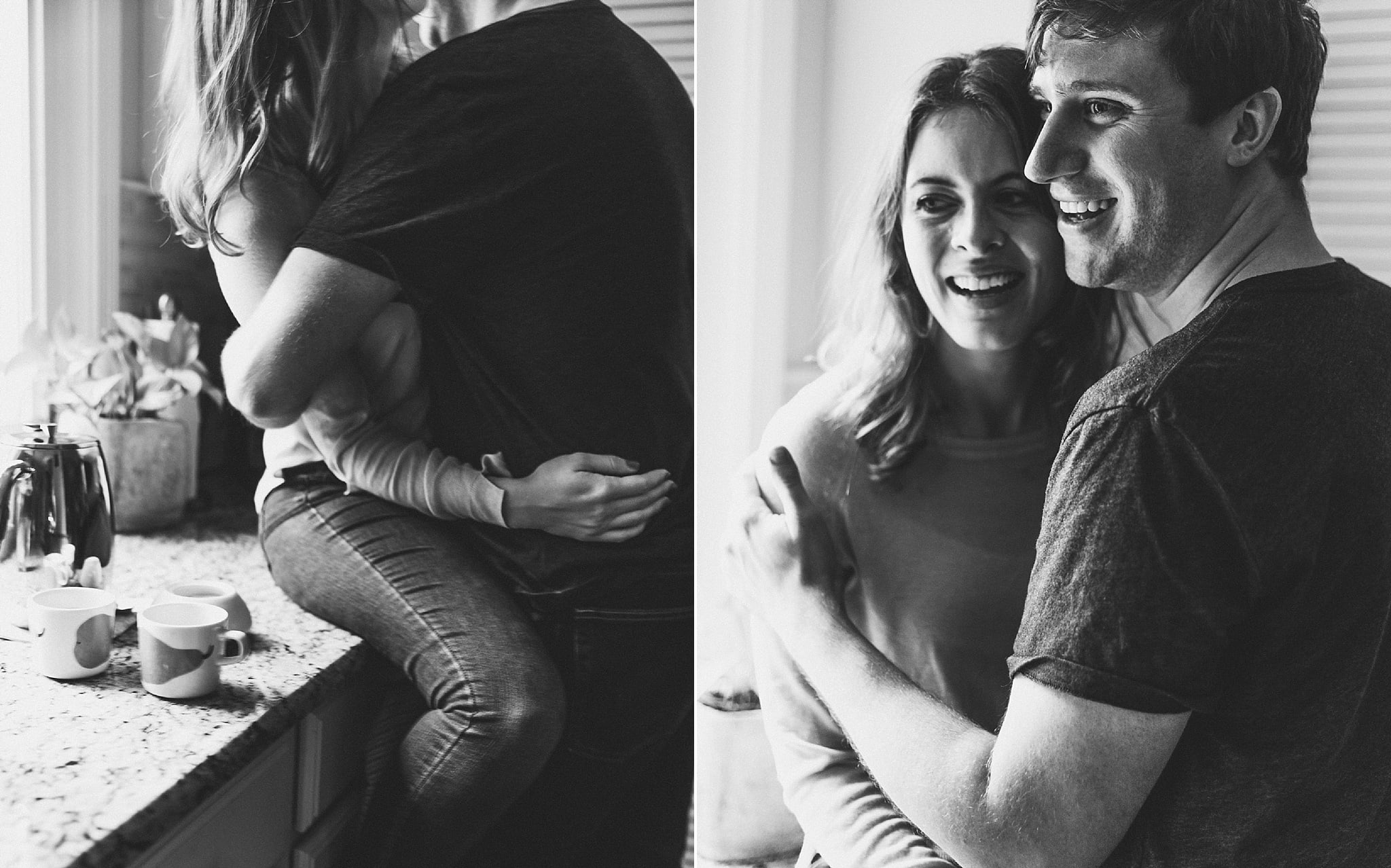 Michigan Wedding Photographer - ME+HIM Photography Intimate In-Home Session Engagement Session