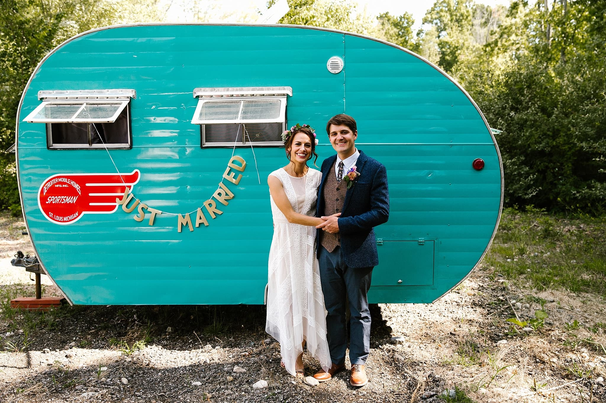 Destination Camp Wedding Campground Campsite Wedding Intimate Wedding DIY Wedding michigan wedding photographer ME+HIM Photography