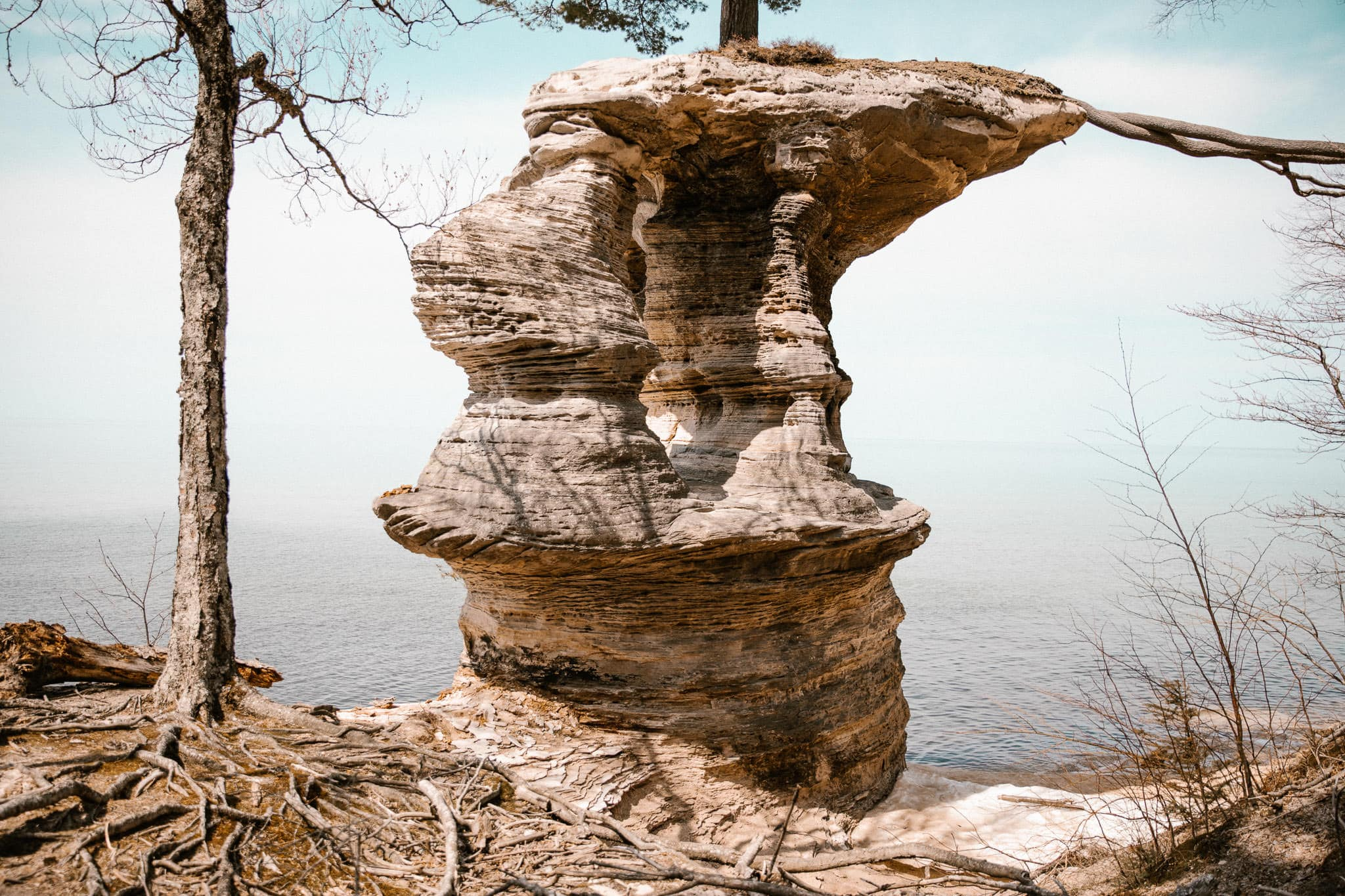 Northern Michigan Elopement Photographer - Chapel Beach and Pictured Rocks National Lakeshore