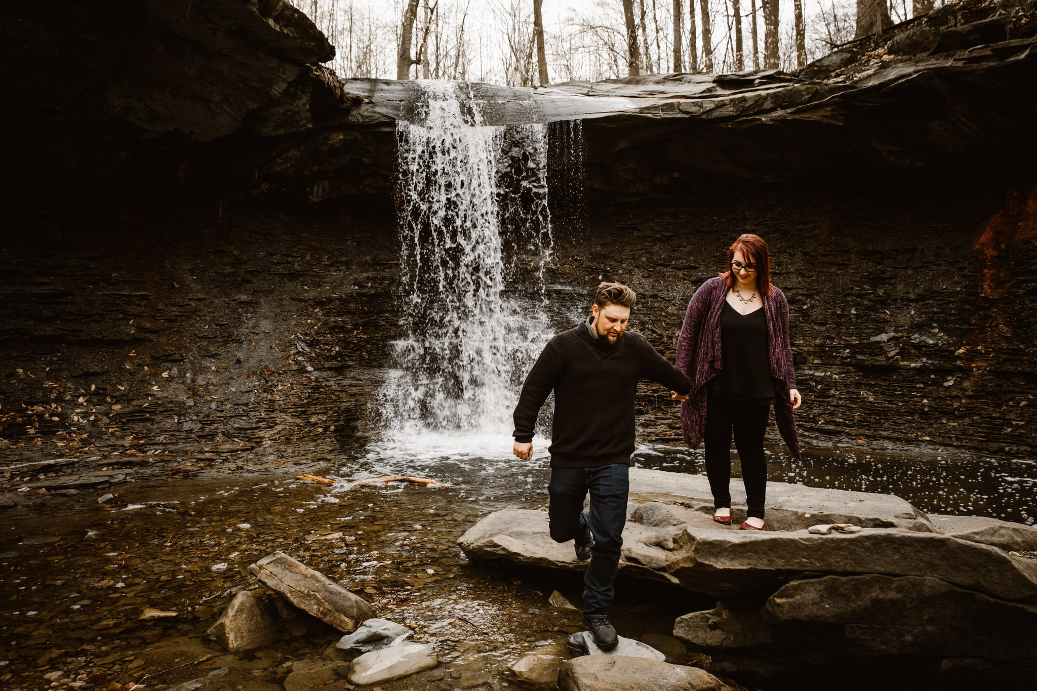 cuyahoga Valley National Park Adventurous Elopement Locations Ohio Elopement Photographer Engagement Session Elopement Ledges Overlook Virginia Kendall Cliffs