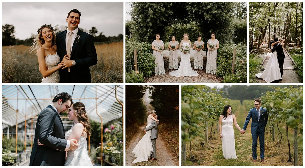 Outdoor Wedding Images In Michigan Venues